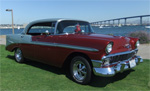 Click to view Hollywood and Vine's 1956 Chevy Bel Air 4 Door Sport Sedan Photos