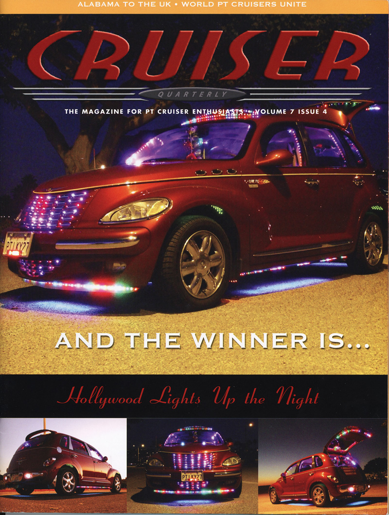 Hollywood's 2005 PT Cruiser Lights Up The Night on 2008 Cruiser Quarterly Magazine Front Cover